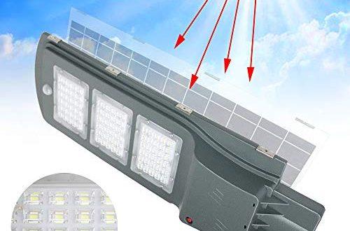 Aufun Strassenlampe Solar 60W LED Strassenlaterne mit Lichtsteuerung und Motion 500x330 - Aufun Straßenlampe Solar 60W LED Straßenlaterne mit Lichtsteuerung und Motion Sensor Akku Wasserdicht IP65 60 LEDs Straßenleuchte für Outdoor Garten Wege Park Einfahrten