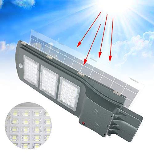 Aufun Straßenlampe Solar 60W LED Straßenlaterne mit Lichtsteuerung und Motion Sensor Akku Wasserdicht IP65 60 LEDs Straßenleuchte für Outdoor Garten Wege Park Einfahrten