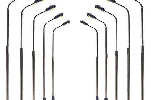 Evemodel LQS06 10 STK Peitschenlampen LED 62mm Spur N Strassenlampen 500x330 - Evemodel LQS06 10 STK. Peitschenlampen LED 62mm Spur N Straßenlampen Flexible Höhe 3V 12V NEU