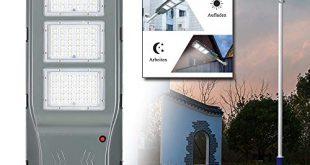 LeMeiZhiJia LED Strassenlampe Solar IP65 Wasserdicht mit Lichtsteuerung und Motion 310x165 - LeMeiZhiJia LED Straßenlampe Solar IP65 Wasserdicht mit Lichtsteuerung und Motion Sensor Light für Straßenbeleuchtung Außenparkplatz - 60W Kaltweiß
