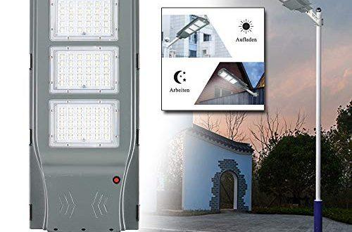 LeMeiZhiJia LED Strassenlampe Solar IP65 Wasserdicht mit Lichtsteuerung und Motion 500x330 - LeMeiZhiJia LED Straßenlampe Solar IP65 Wasserdicht mit Lichtsteuerung und Motion Sensor Light für Straßenbeleuchtung Außenparkplatz - 60W Kaltweiß