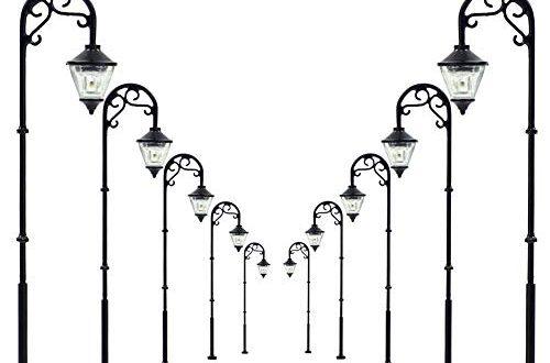 Evemodel 10 STK 63mm Spur H0 00 LED Leuchte 500x330 - Evemodel 10 STK. 63mm Spur H0 / 00 LED Leuchte Straßenlampen NEU LYM55